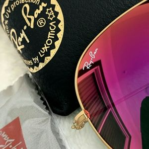 Ray-Ban Accessories - HOT PINK RAY-BAN AVIATOR 100% AUTHENTIC